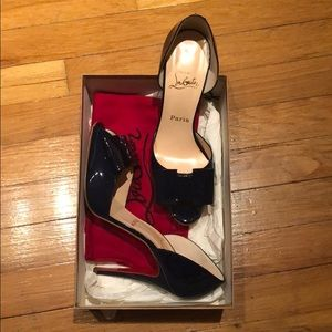 Christian Louboutin peep toe shoes